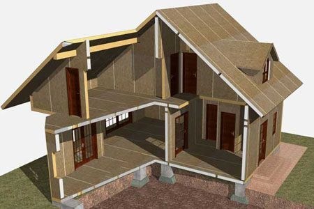 Строительство зданий на основе стеновых SIP панелей в Спасске-Дальнем